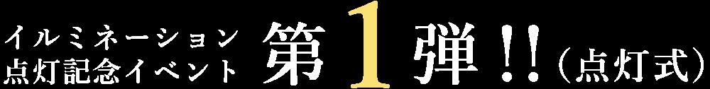 イルミネーション点灯記念イベント第1弾!!(点灯式)